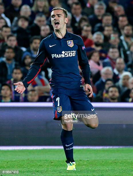 Antoine Griezmann during the match between FC Barcelona and Atletico de Madrid corrresponding to the first leg of the 1/4 final of the UEFA Champions...