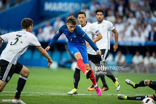 Antoine Griezmann during the UEFA EURO semi final match between Germany and France at Stade Velodrome on July 7, 2016 in Marseille, France.