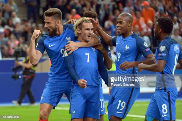 Antoine Griezmann forward of France Football team during the FIFA 2018 World Cup Qualifier between France and Nederlands at Stade de France on August...