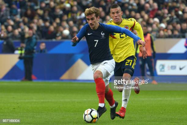 Antoine Griezmann forward of France Football team during the friendly match between France and Colombia at Stade de France on March 23 2018 in Paris...