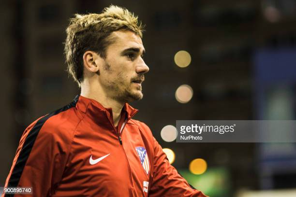 Antoine Griezmann from France of Atletico de Madrid during the Copa del Rey Spanish King's Cup match between Lleida v Atletico de Madrid at Camp...