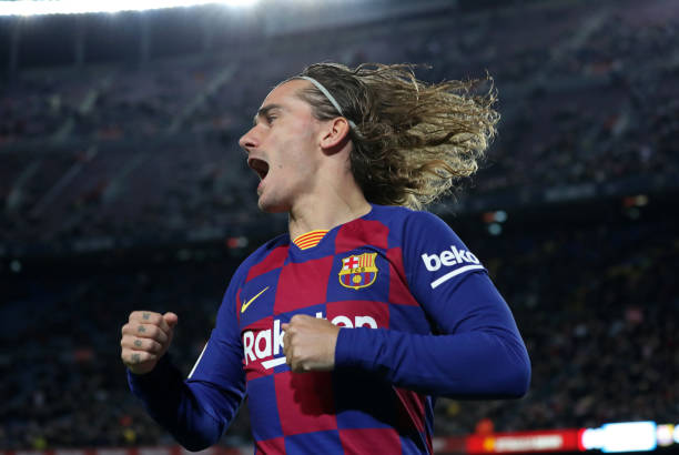 Antoine Griezmann goal celebration during the match between FC Barcelona and CD Leganes corresponding to the 1/8 final of the Copa del Rey played at...