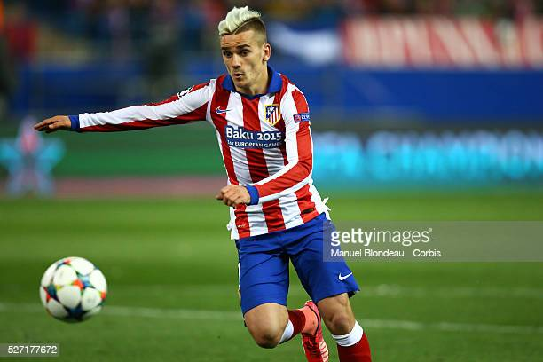 Antoine Griezmann of Atletico de Madrid during the UEFA Champions League round of 16 2nd leg football match between Atletico de Madrid and Bayer 04...
