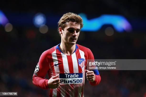 Antoine Griezmann of Atletico de Madrid in action during the Group A match of the UEFA Champions League between Club Atletico de Madrid and Borussia...