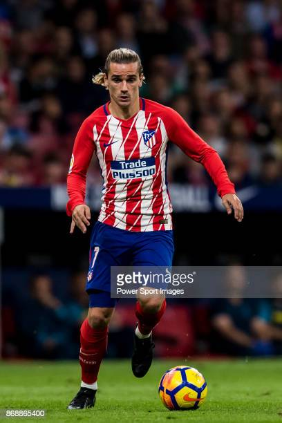 Antoine Griezmann of Atletico de Madrid in action during the La Liga 201718 match between Atletico de Madrid and Villarreal CF at Wanda Metropolitano...