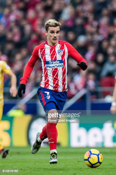 Antoine Griezmann of Atletico de Madrid in action during the La Liga 201718 match between Atletico de Madrid and Girona FC at Wanda Metropolitano on...