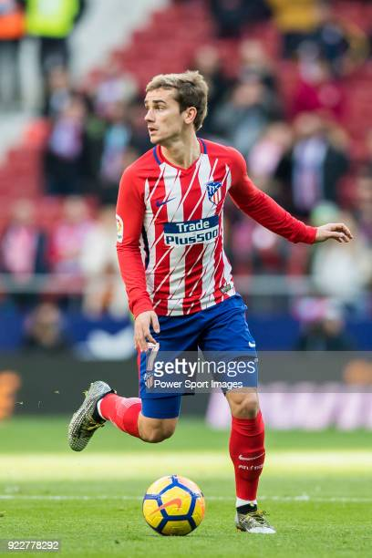 Antoine Griezmann of Atletico de Madrid in action during the La Liga 201718 match between Atletico de Madrid and UD Las Palmas at Wanda Metropolitano...