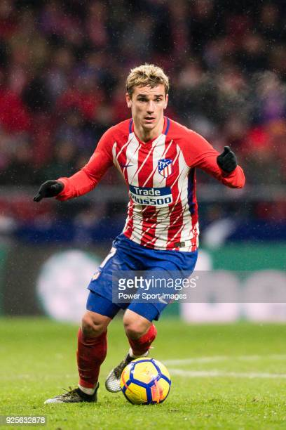 Antoine Griezmann of Atletico de Madrid in action during the La Liga 201718 match between Atletico de Madrid and Valencia CF at Wanda Metropolitano...