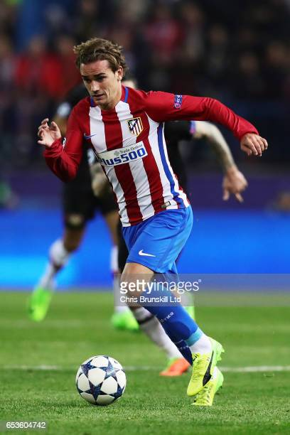 Antoine Griezmann of Atletico de Madrid in action during the UEFA Champions League Round of 16 second leg match between Club Atletico de Madrid and...