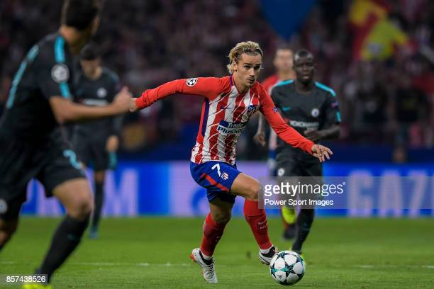 Antoine Griezmann of Atletico de Madrid in action during the UEFA Champions League 201718 match between Atletico de Madrid and Chelsea FC at the...