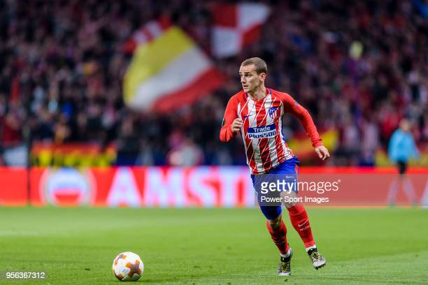 Antoine Griezmann of Atletico de Madrid in action during the UEFA Europa League 201718 semifinals match between Atletico de Madrid and Arsenal FC at...
