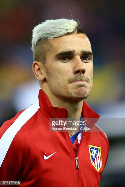 Antoine Griezmann of Atletico de Madrid is pictured during the line up during the UEFA Champions League round of 16 2nd leg football match between...