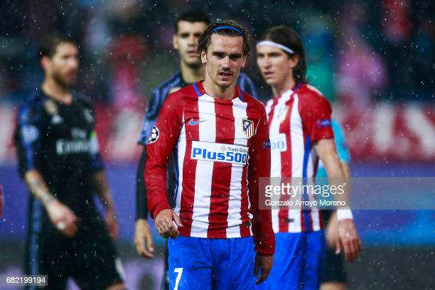 Antoine Griezmann of Atletico de Madrid looks on during the UEFA Champions League Semi Final second leg match between Club Atletico de Madrid and...
