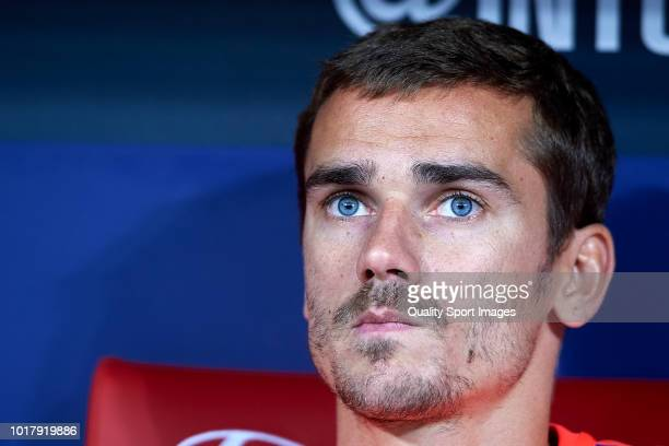 Antoine Griezmann of Atletico de Madrid looks on prior to the International Champions Cup match between Atletico de Madrid and FC Internazionale at...