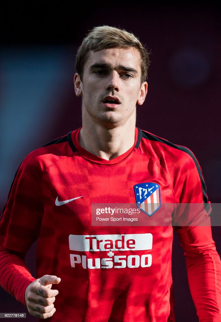 Antoine Griezmann of Atletico de Madrid prior to the La Liga 2017-18 match between Atletico de Madrid and UD Las Palmas at Wanda Metropolitano on January 28 2018 in Madrid, Spain.