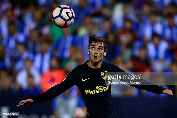 Antoine Griezmann of Atletico de Madrid runs for the ball during the La Liga match between Club Deportivo Leganes and Club Atletico de Madrid at...