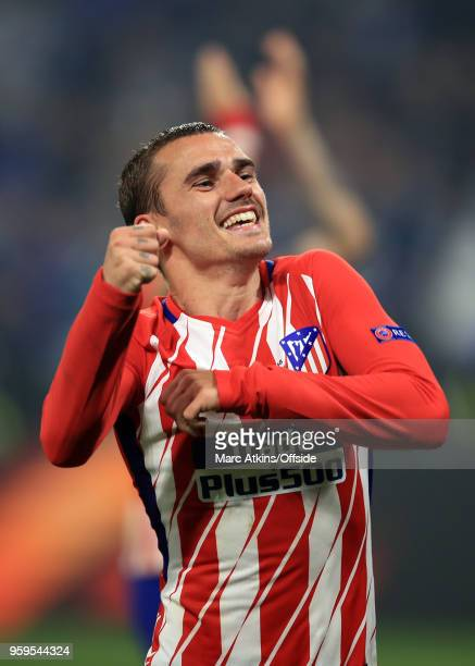 Antoine Griezmann of Atletico Madrid celebrates during the UEFA Europa League Final between Olympique de Marseille and Club Atletico de Madrid at...
