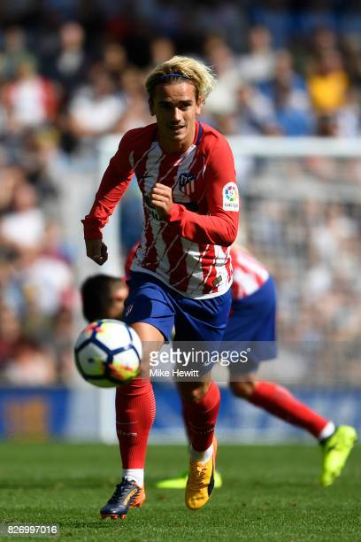 Antoine Griezmann of Atletico Madrid during a Pre Season Friendly between Brighton Hove Albion and Atletico Madrid at Amex Stadium on August 6 2017...