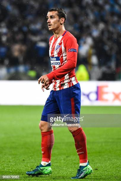Antoine Griezmann of Atletico Madrid during the Europa League Final match between Marseille and Atletico Madrid at Groupama Stadium on May 16 2018 in...