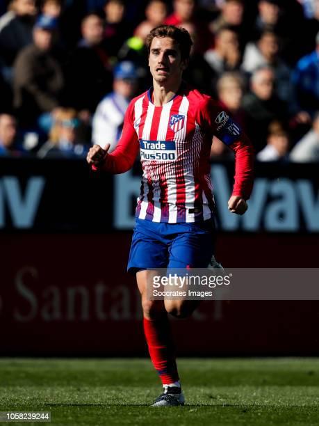 Antoine Griezmann of Atletico Madrid during the La Liga Santander match between Leganes v Atletico Madrid at the Estadio Municipal de Butarque on...