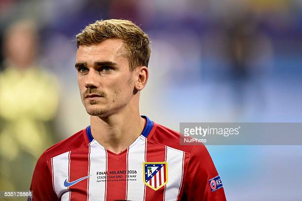 Antoine Griezmann of Atletico Madrid during the UEFA Champions League Final between Real Madrid and Atletico Madrid Atletico Madrid at Stadio San...
