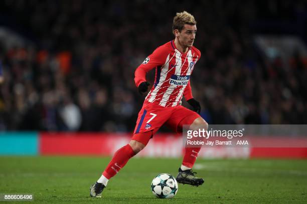 Antoine Griezmann of Atletico Madrid during the UEFA Champions League group C match between Chelsea FC and Atletico Madrid at Stamford Bridge on...
