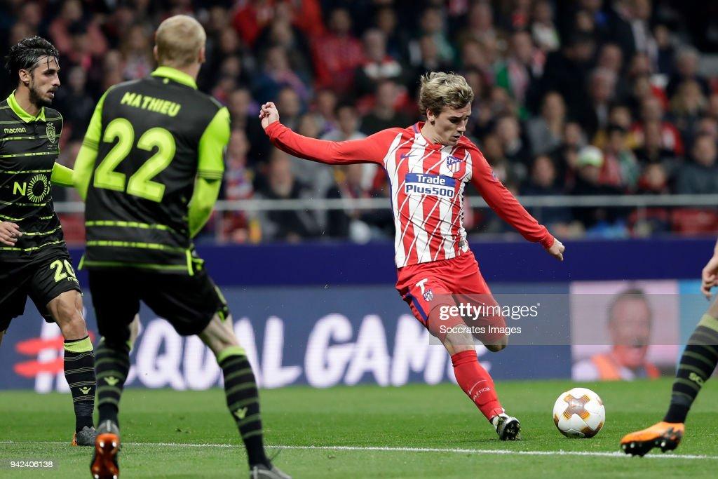 Atletico Madrid v Sporting Lissabon - UEFA Europa League : News Photo