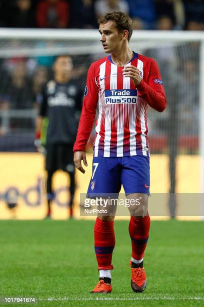 Antoine Griezmann of Atletico Madrid during the UEFA Super Cup match between Real Madrid and Atletico Madrid on August 15 2018 at Lillekula Stadium...