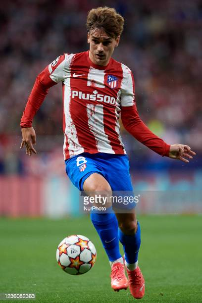Antoine Griezmann of Atletico Madrid in action during the UEFA Champions League group B match between Atletico Madrid and Liverpool FC at Wanda...