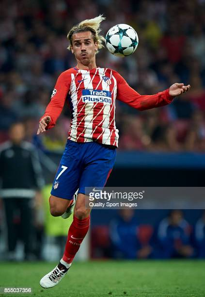 Antoine Griezmann of Atletico Madrid in action during the UEFA Champions League group C match between Atletico Madrid and Chelsea FC at Wanda...