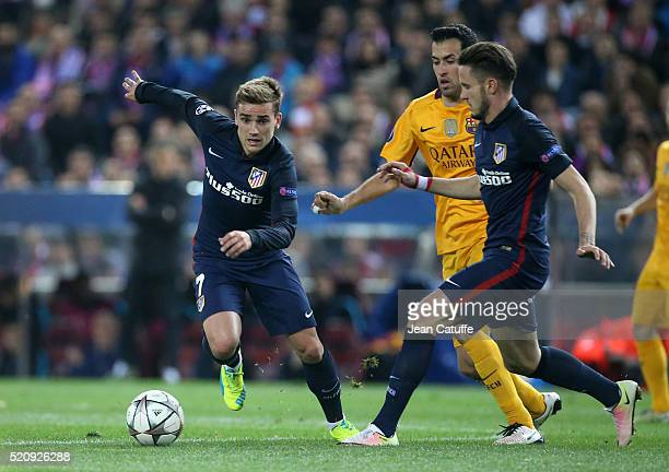 Antoine Griezmann of Atletico Madrid in action during the UEFA Champions League quarter final second leg match between Atletico Madrid and FC...