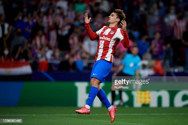 Antoine Griezmann of Atletico Madrid lament a failed occasion during the UEFA Champions League group B match between Atletico Madrid and Liverpool FC...