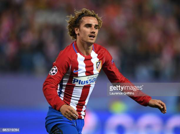 Antoine Griezmann of Atletico Madrid looks on during the UEFA Champions League Semi Final second leg match between Club Atletico de Madrid and Real...