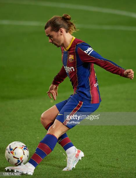 Antoine Griezmann of Barcelona does passed during the La Liga Santander match between FC Barcelona and Real Valladolid CF at Camp Nou on April 5,...