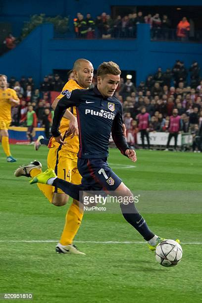 Antoine Griezmann of Barcelona during the UEFA Champions League quarter final second leg match between Club Atletico de Madrid and FC Barcelona at...