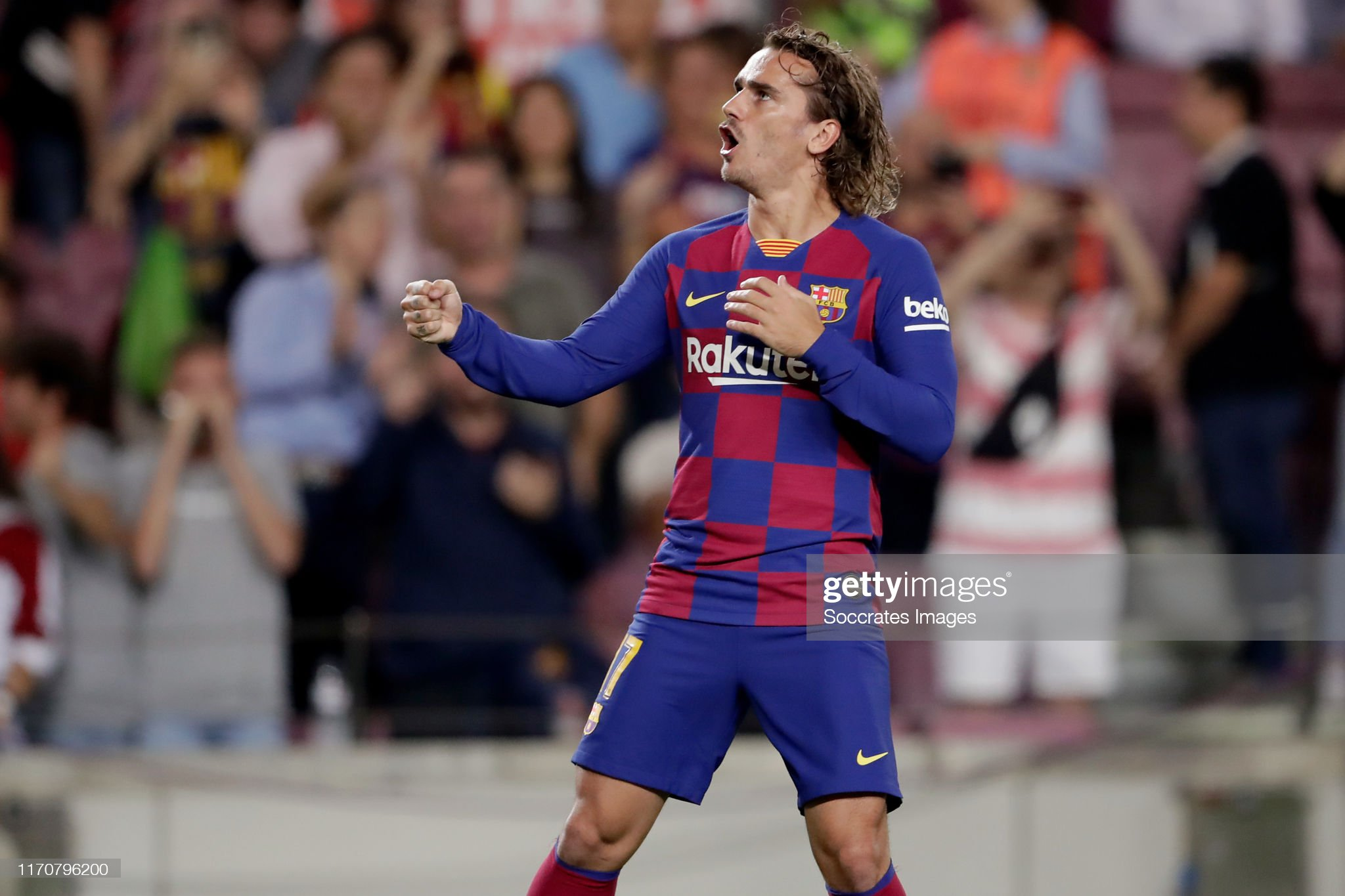 صور مباراة : برشلونة - فياريال 2-1 ( 24-09-2019 )  Antoine-griezmann-of-fc-barcelona-celebrates-20-during-the-la-liga-picture-id1170796200?s=2048x2048