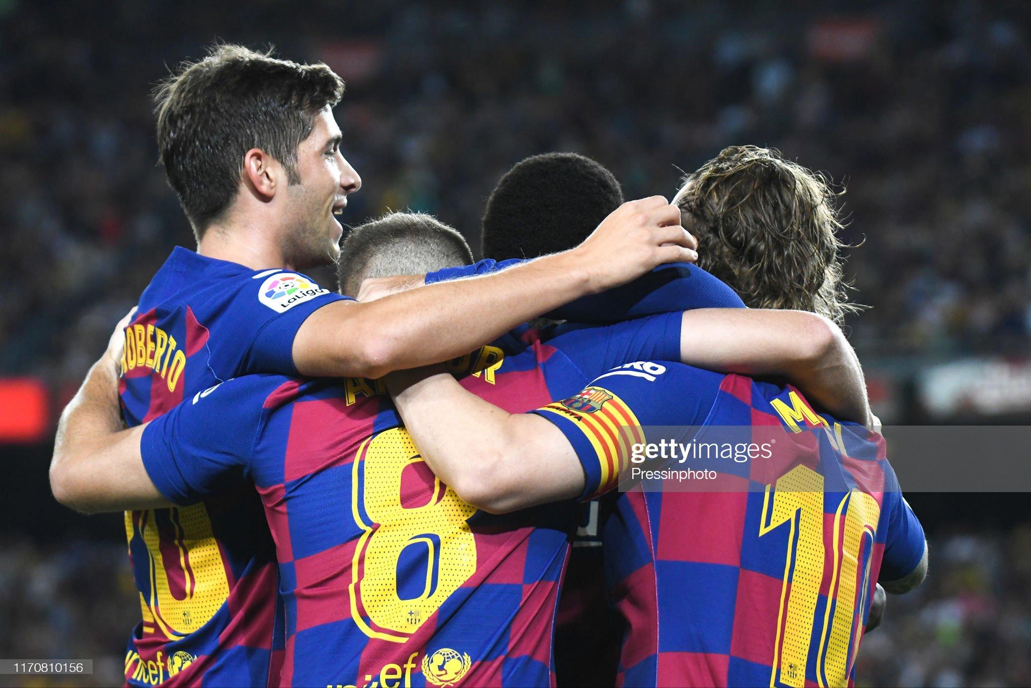 صور مباراة : برشلونة - فياريال 2-1 ( 24-09-2019 )  Antoine-griezmann-of-fc-barcelona-celebrates-his-goal-with-his-the-picture-id1170810156?s=2048x2048