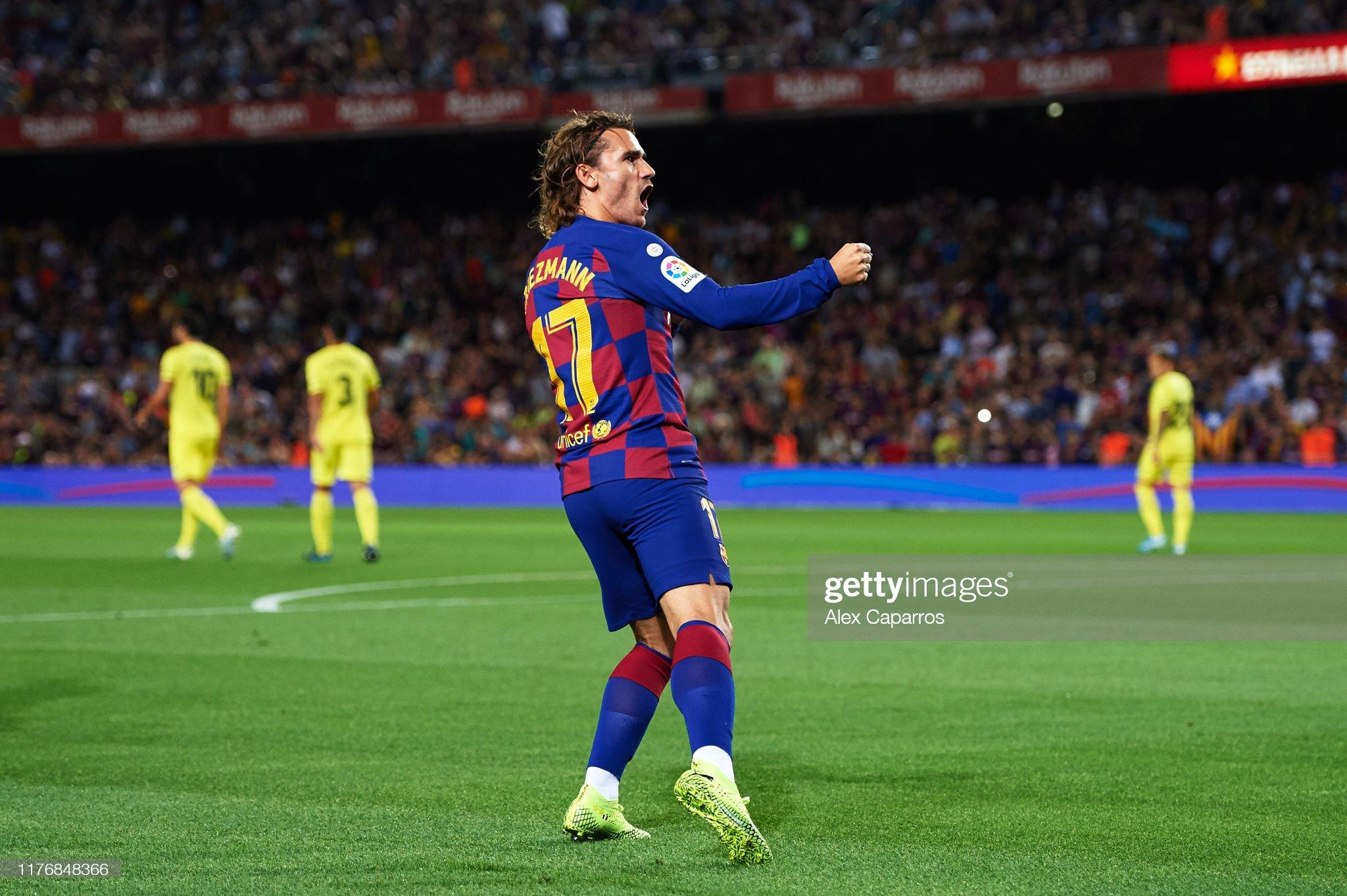 صور مباراة : برشلونة - فياريال 2-1 ( 24-09-2019 )  Antoine-griezmann-of-fc-barcelona-celebrates-scoring-the-opening-goal-picture-id1176848366?s=2048x2048