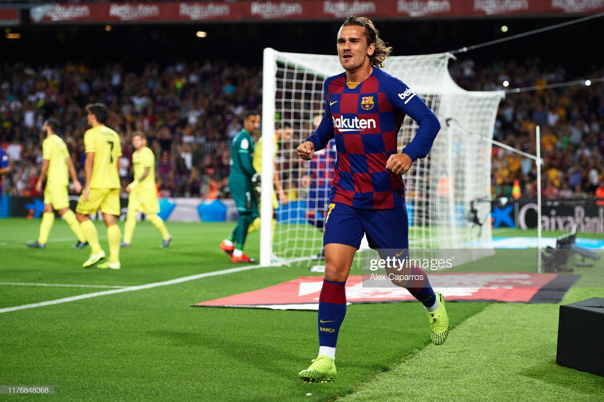 صور مباراة : برشلونة - فياريال 2-1 ( 24-09-2019 )  Antoine-griezmann-of-fc-barcelona-celebrates-scoring-the-opening-goal-picture-id1176848368?s=2048x2048