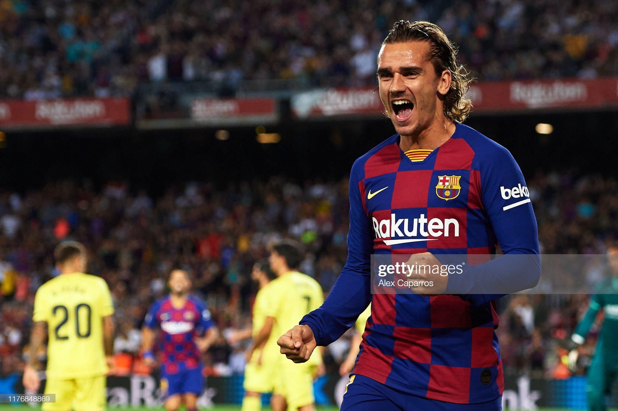 صور مباراة : برشلونة - فياريال 2-1 ( 24-09-2019 )  Antoine-griezmann-of-fc-barcelona-celebrates-scoring-the-opening-goal-picture-id1176848869?s=2048x2048