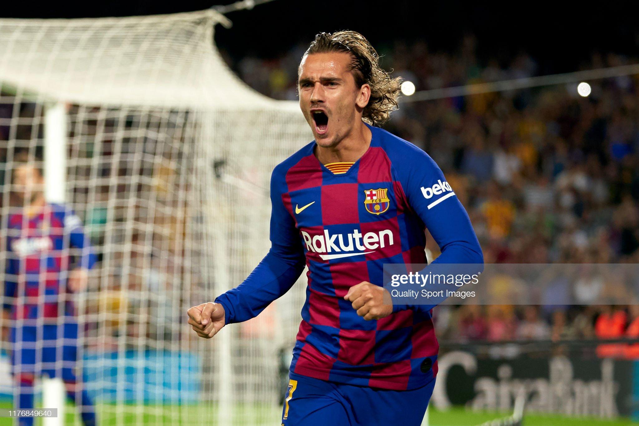 صور مباراة : برشلونة - فياريال 2-1 ( 24-09-2019 )  Antoine-griezmann-of-fc-barcelona-celebrates-their-teams-first-goal-picture-id1176849640?s=2048x2048