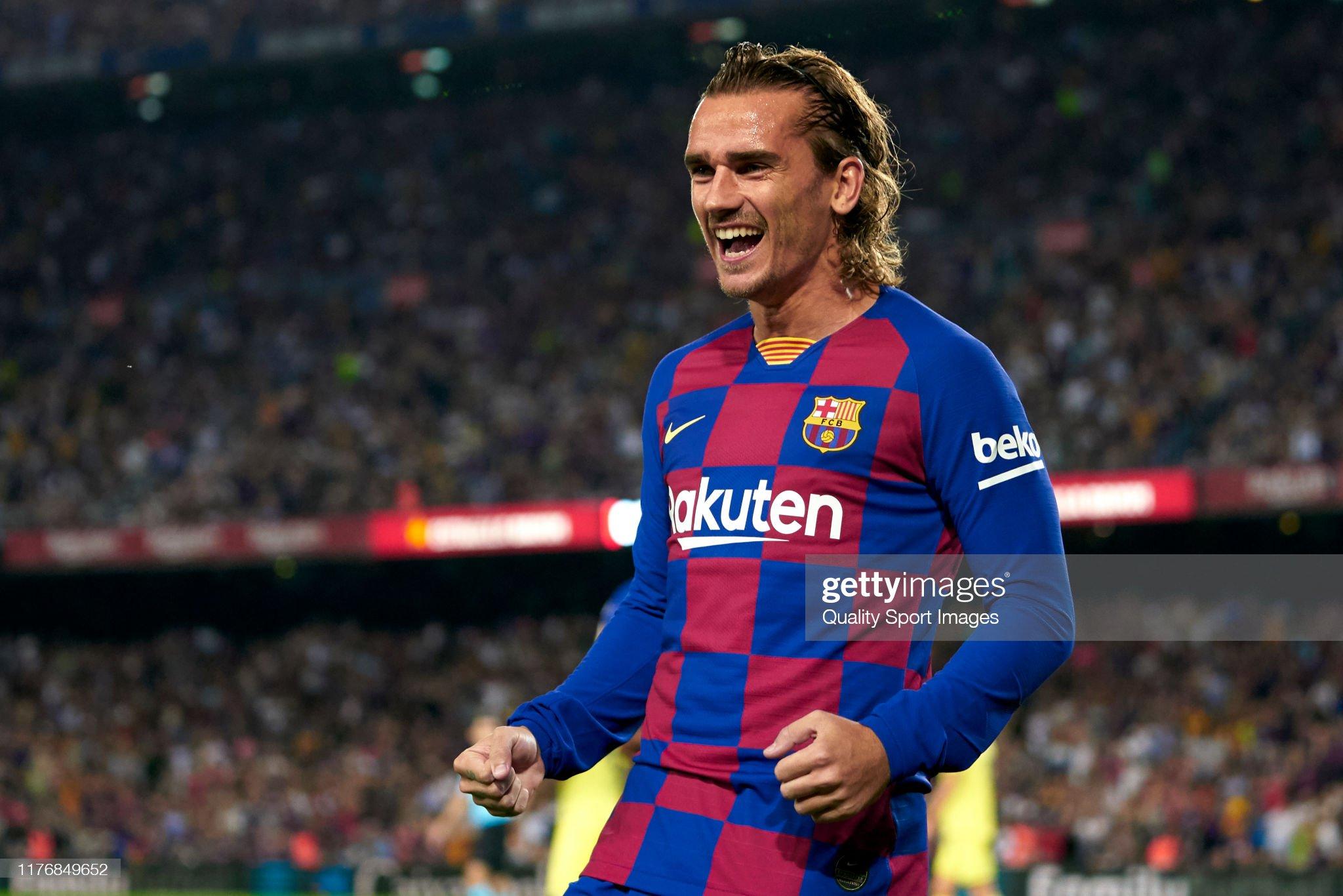 صور مباراة : برشلونة - فياريال 2-1 ( 24-09-2019 )  Antoine-griezmann-of-fc-barcelona-celebrates-their-teams-first-goal-picture-id1176849652?s=2048x2048