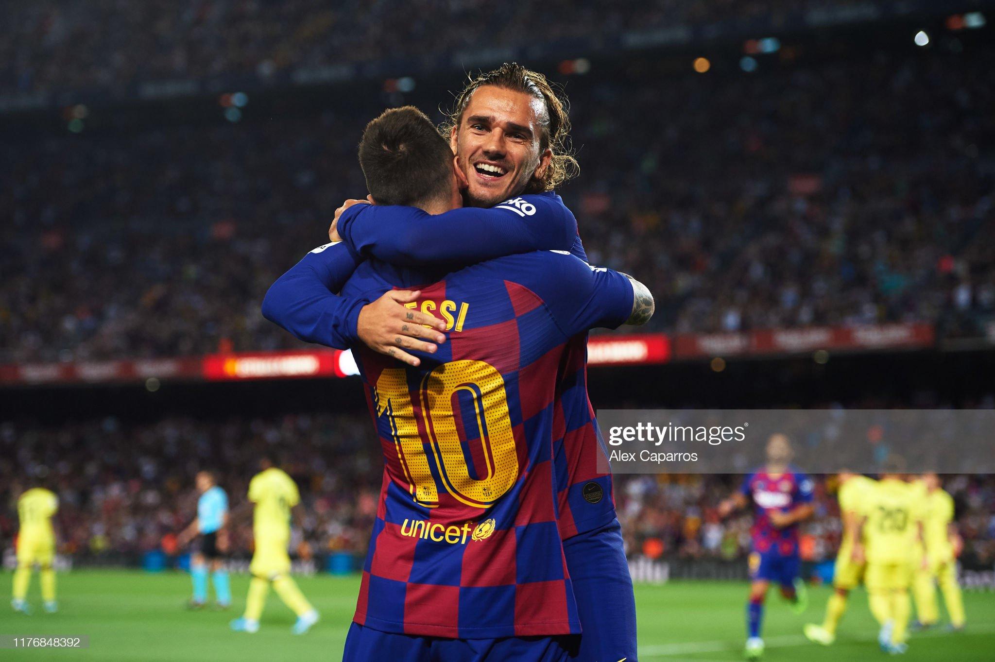 صور مباراة : برشلونة - فياريال 2-1 ( 24-09-2019 )  Antoine-griezmann-of-fc-barcelona-celebrates-with-his-teammate-lionel-picture-id1176848392?s=2048x2048