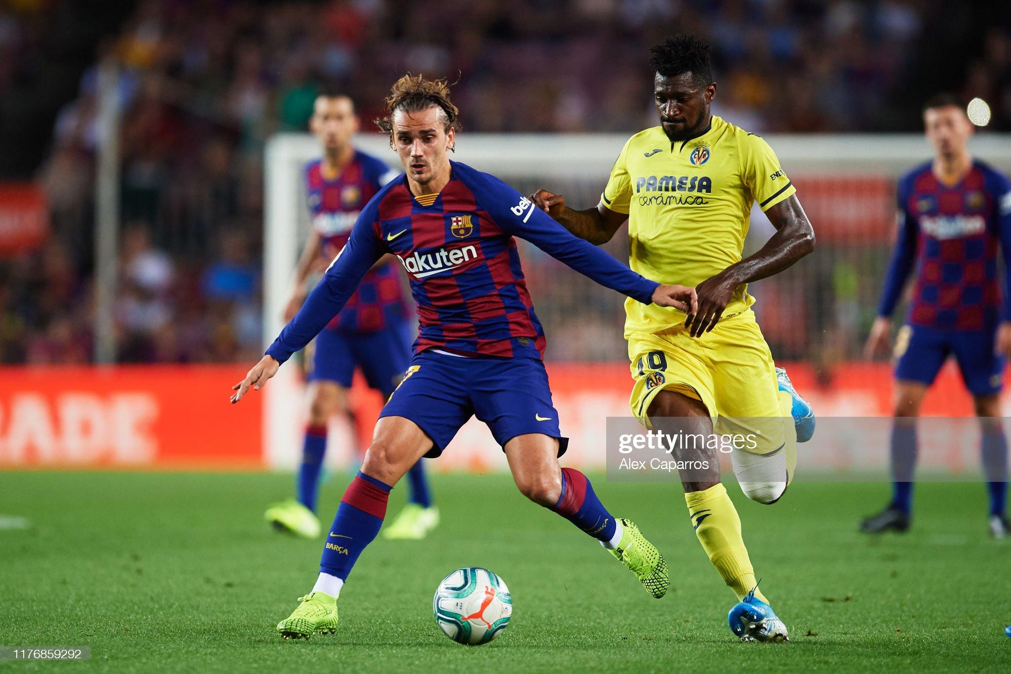 صور مباراة : برشلونة - فياريال 2-1 ( 24-09-2019 )  Antoine-griezmann-of-fc-barcelona-conducts-the-ball-under-pressure-picture-id1176859292?s=2048x2048