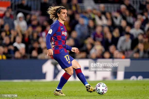Antoine Griezmann of FC Barcelona during the Spanish Copa del Rey match between FC Barcelona v Leganes at the Camp Nou on January 30 2020 in...