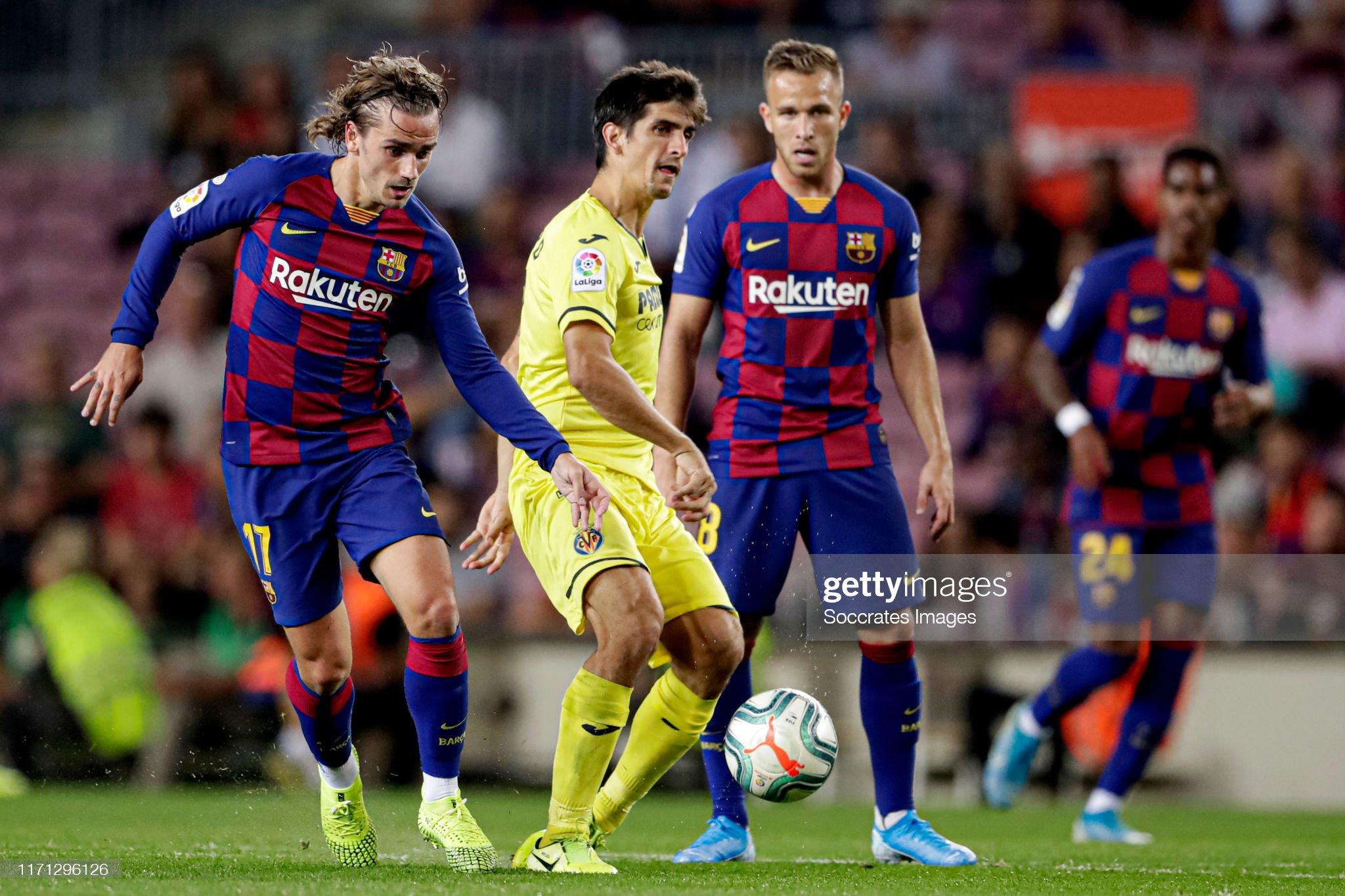 صور مباراة : برشلونة - فياريال 2-1 ( 24-09-2019 )  Antoine-griezmann-of-fc-barcelona-gerard-moreno-of-villarreal-during-picture-id1171296126?s=2048x2048