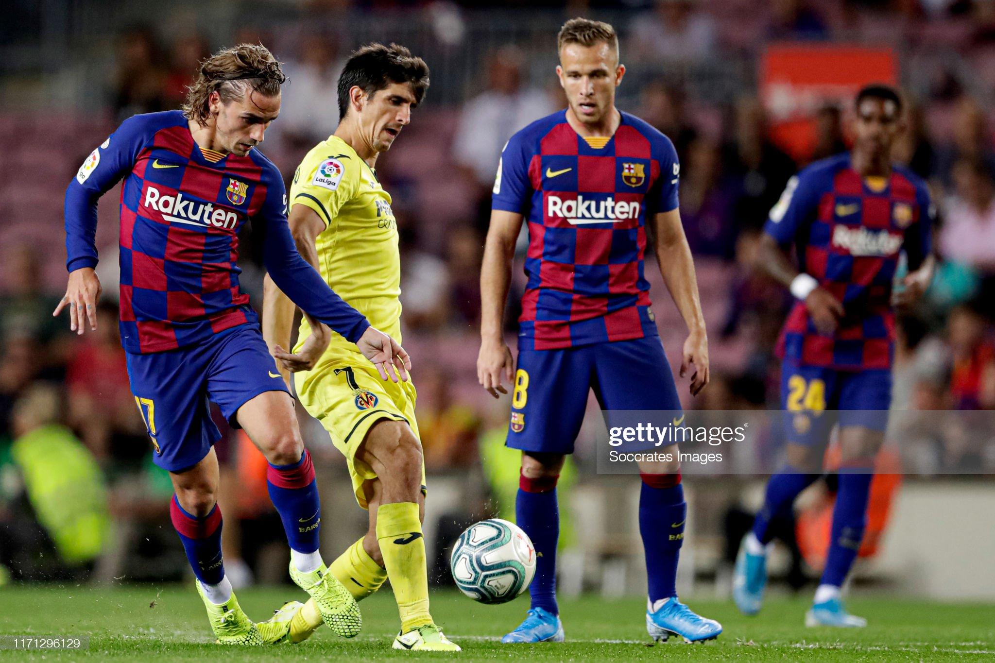 صور مباراة : برشلونة - فياريال 2-1 ( 24-09-2019 )  Antoine-griezmann-of-fc-barcelona-gerard-moreno-of-villarreal-during-picture-id1171296129?s=2048x2048