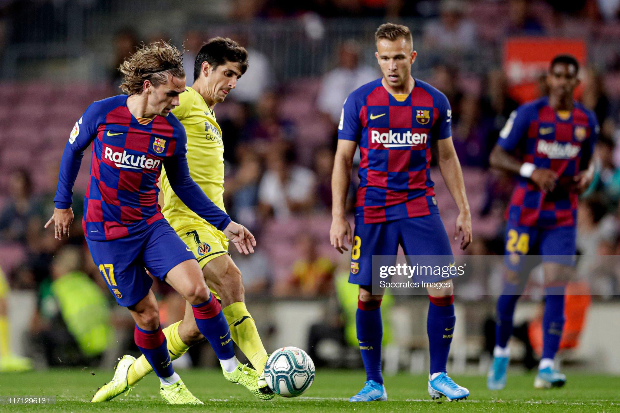 صور مباراة : برشلونة - فياريال 2-1 ( 24-09-2019 )  Antoine-griezmann-of-fc-barcelona-gerard-moreno-of-villarreal-during-picture-id1171296131?s=2048x2048