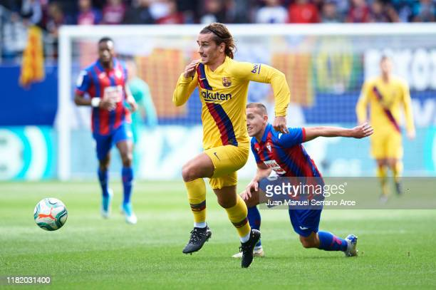 Antoine Griezmann of FC Barcelona in action during the Liga match between SD Eibar SAD and FC Barcelona at Ipurua Municipal Stadium on October 19,...
