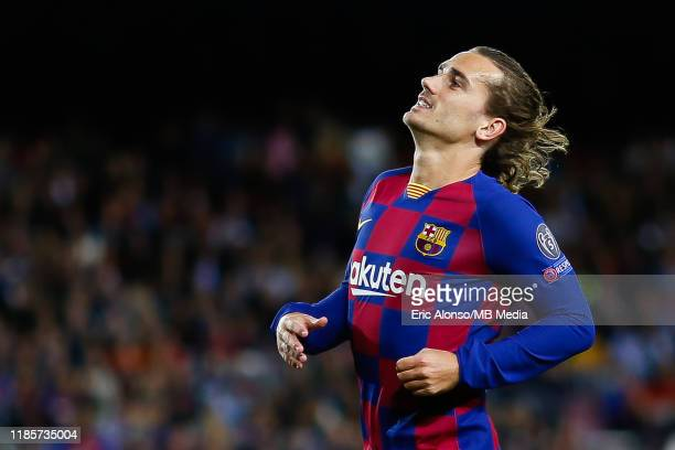 Antoine Griezmann of FC Barcelona laments after loses the ball during the UEFA Champions League group F match between FC Barcelona and Slavia Praha...